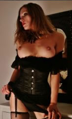 Geile Domina in Corsage